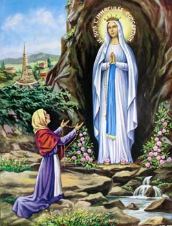 St Bernadette and Mary, Our Lady of Lourdes