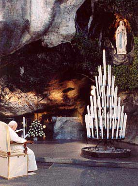 Pope John Paul II @ Lourdes, France in 2004