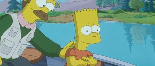 Simpson's Movie - Ned Flanders & Bart Simpson fishing