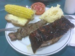 ribs & steak @ Mid West food night @ St John Vianney College Seminary, Miami, FL