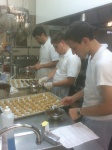 making buckeyes @ Mid West food night @ St John Vianney College Seminary, Miami, FL