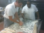 making pierogi @ Polish food night @ St John Vianney College Seminary, Miami, FL