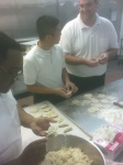 making pierogi @ Polish food night @ St John Vianney College Seminary, Miami, FL