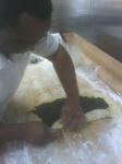 making makowiec, poppy seed cake @ Polish food night @ St John Vianney College Seminary, Miami, FL