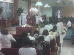 praise & worship with vocation monstrance @ Notre Dame Haitian Mission, Miami, FL