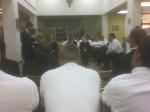 2008, Senior project presentation, St John Vianney College Seminary, Miami, FL, seminarians