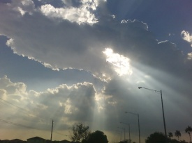sunlight thru clouds